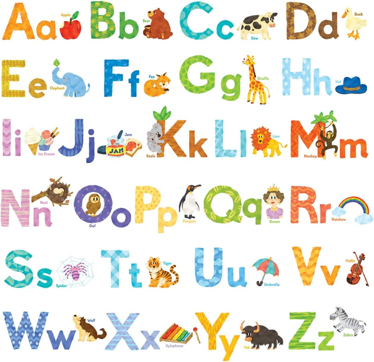 Kids wall decals Kids Room Decals Children Alphabet decal ABC Wall Sticker ABC Alphabet sticker Alphabet Wall Decal Alphabet wall art
