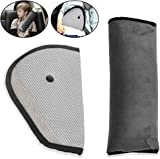 MTURE Seatbelt Cushion Safety Child Car Seatbelt Strap Soft Shoulder Pad Cover Head Neck Support, Plus free Seatbelt Clip (Gray)