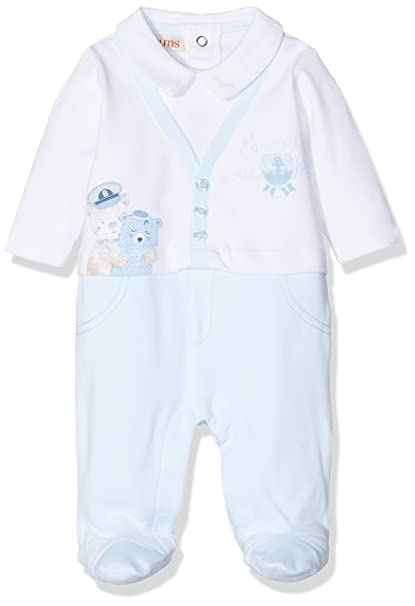 Brums 181BBFV001, Mono Corto Unisex bebé, Azul (Azzurro 103), 56 cm: Amazon.es: Ropa y accesorios