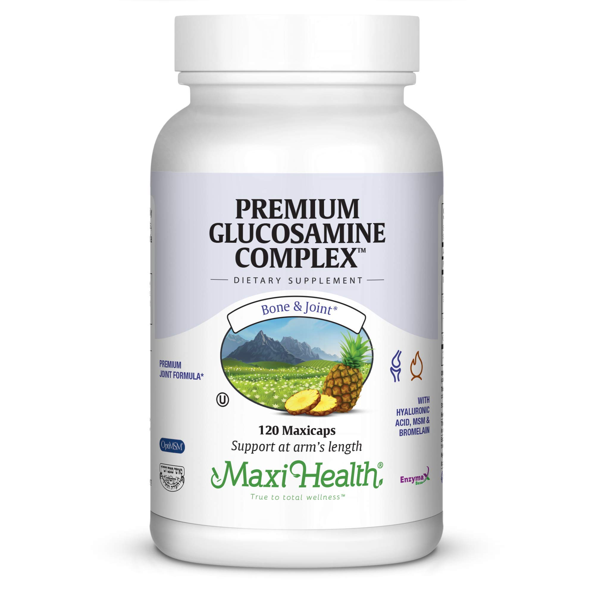 Maxi Health Premium Glucosamine Complex Joint Formula with MSM, 120 Count by Maxi Health