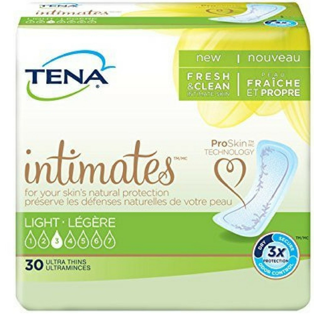 TENA Intimates Natural Protection Ultra Thins 30 Each ( Pack of 6) by Johnson and Johnson