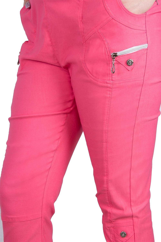 ajuste c/ómodo Pantalones de verano para mujer el/ástico Fenside Country Clothing longitud 3//4