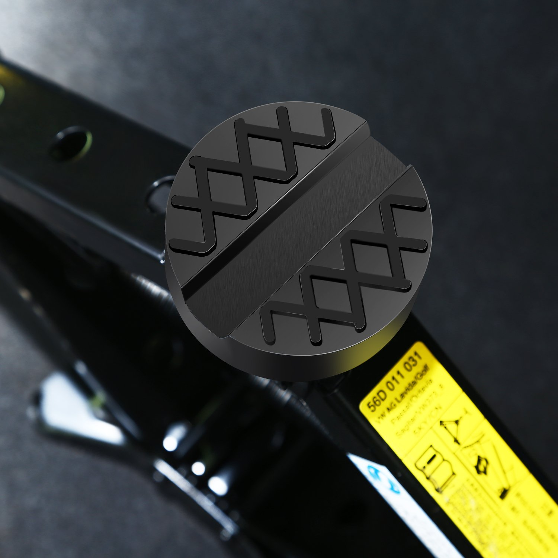 Bloque de Goma Jack Crest 1pcs PullPritt Universal Jack Pad Evite ara/ñazos Da/ño 65x33 mm Hendidura