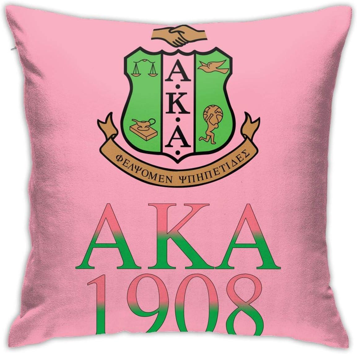MSFX Alpha Kappa Alpha Throw Pillowcase Pillow Cover 18x18 Inches(45cm) Decor Corduroy Velvet Cushion Cover Handmade Decorative