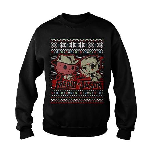 Hallowear Freddy Vs Jason Horror Ugly Christmas Sweater Sweatshirt