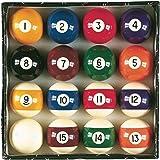 "Viper Billiard Master 2-1/4"" Regulation Size Billiard/Pool Balls, Complete 16 Ball Set"
