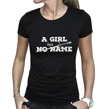 Camiseta de chica, Juego de tronos A GIRL has NO NAME talla m