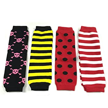 Set of 2 Wrapables Colorful Baby Leg Warmers Hearts /& Dots