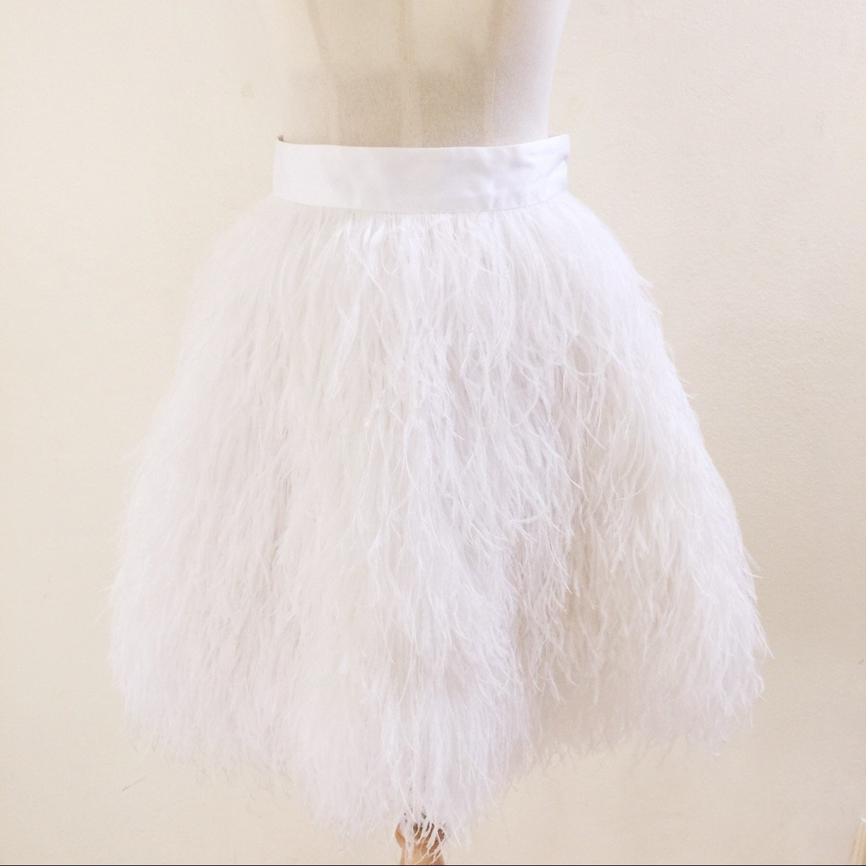 S.G.instar Rachael ostrich feathers skirt Wedding skirt bride maid skirt