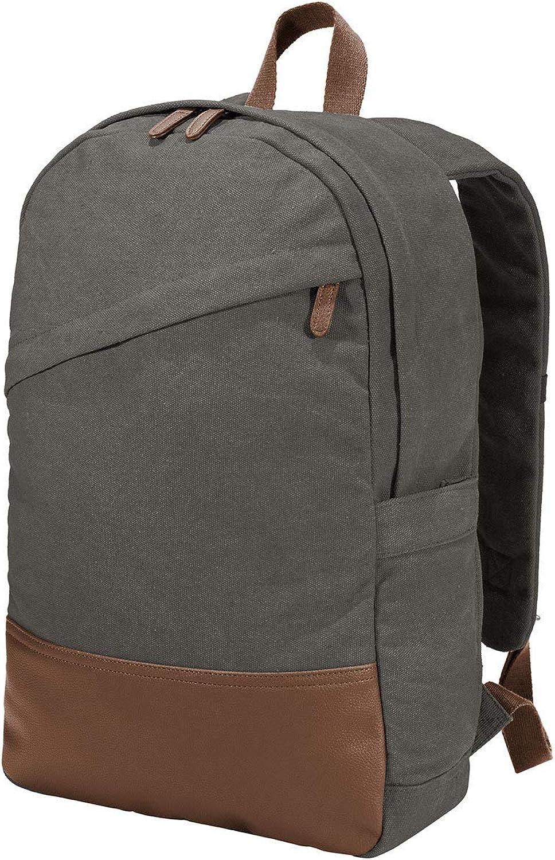 Port Authority Cotton Canvas Backpack OSFA Dark Smoke Grey