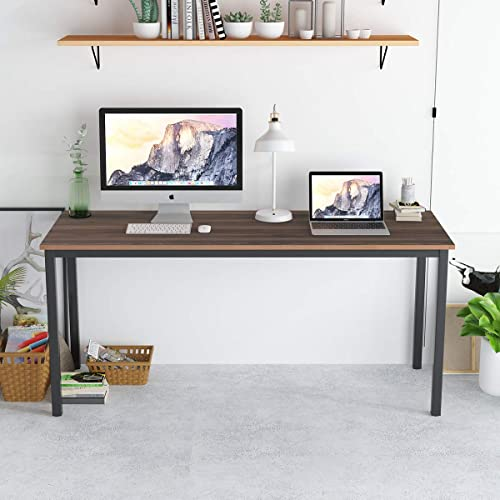 SogesPower 63 inches Computer Desk Study Table PC Laptop Office Desk Workstation
