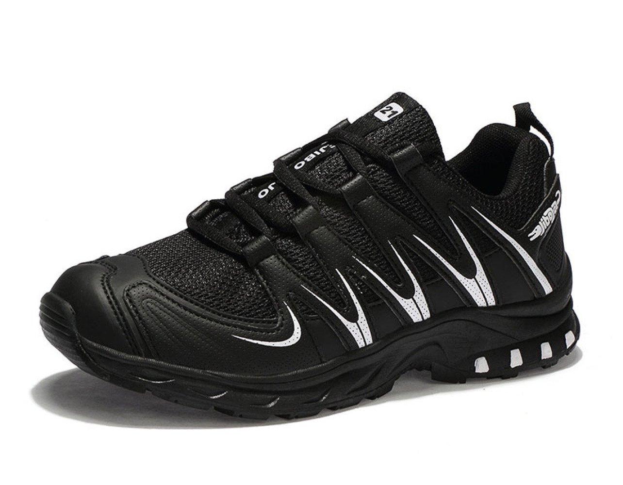 MUYII Zapatillas De Running Para Hombre Zapatillas De Deporte Respirables De Moda Encaje De Malla Suela Suave Casual Ligero Atlético,BlackWhite-EU42 EU42|BlackWhite