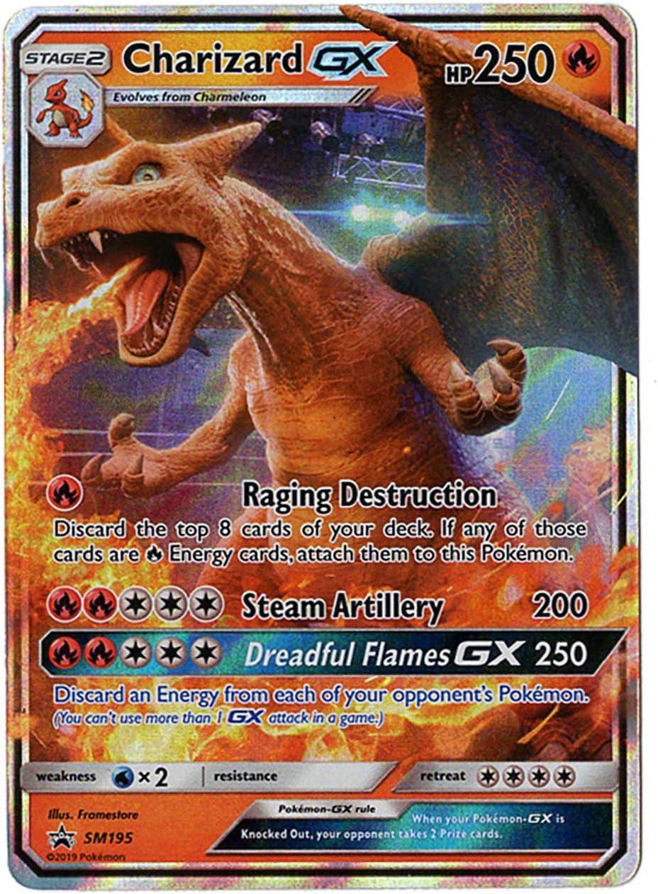 Amazon Com Charizard Gx Sm195 Detective Pikachu Promo Card Holo Foil Nm M 100 Guaranteed Authentic Toys Games
