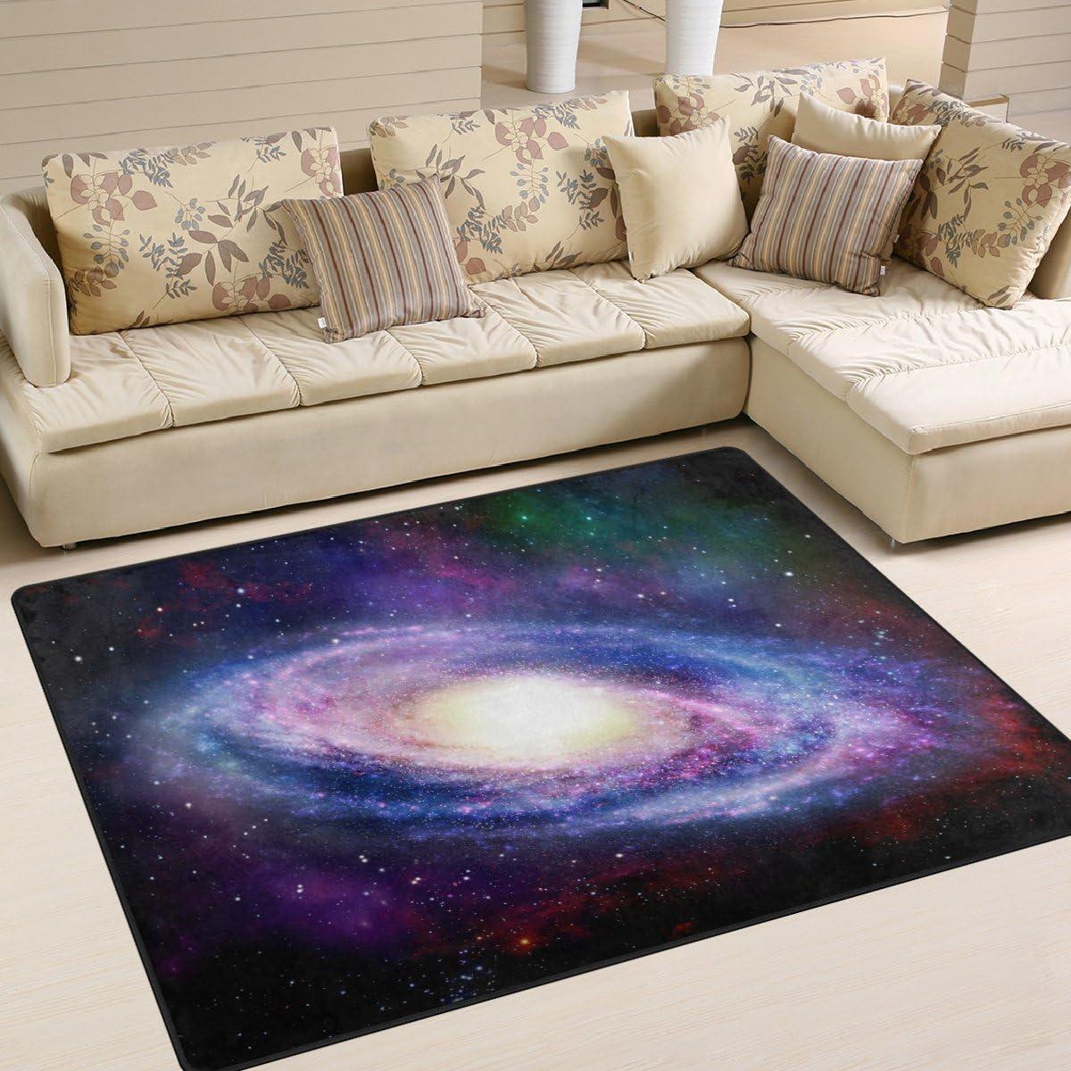 ALAZA Spiral Galaxy Nebula Area Rug Rugs Mat for Living Room Bedroom 7 x5