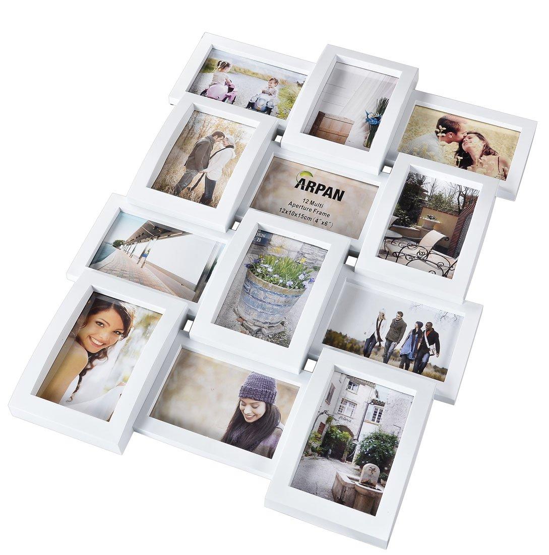Amazon.de: Arpan Fotorahmen Multi Appertur Bilderrahmen hält 12 x 15 ...