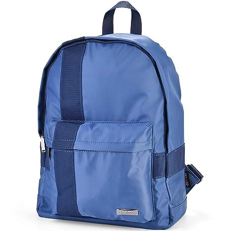 dc11ff1a6273 ROOHO Classic School Backpack Waterproof Rucksack Lightweight College  Outdoor Travel Daypack-Blue