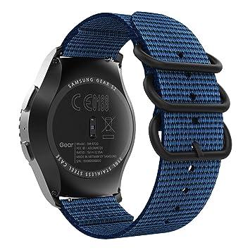 MoKo Compatible con Garmin Vivoactive 3/Galaxy Watch Active/Gear S2 Classic/Galaxy Watch 42mm/Ticwatch E/Huawei Watch GT 2 42mm, 20mm Pulsera ...