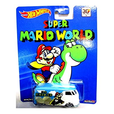 HOT WHEELS SUPER MARIO WORLD VOLKSWAGEN T1 PANEL BUS NEW RARE REAL RIDERS: Toys & Games