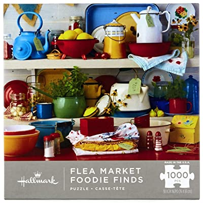 Flea Market Foodie Finds 1,000-Piece Puzzle: Toys & Games