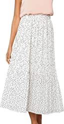 33ba0c7a2 Miessial Women's Chiffon High Waist Pleated Midi Skirts Boho Floral Print  Skirt