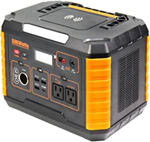 Portable Power Station 500W 519Wh Solar Generator Mobile Lithium Battery Pack with 110V Dual AC Outlet for for Home Outdoor Travel Camping Adventure Emergency