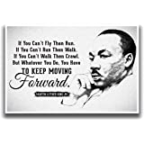JSC455 Keep Moving Forward Martin Luther King Jr Quote Poster Drawn Portrait   18-Inches By 12-Inches   Motivational Inspirat