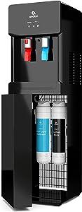Avalon Self Cleaning Bottleless Water Cooler Dispenser - Hot & Cold Water, Child Safety Lock, Innovative Slim Design - UL/Energy Star Approved- Black - A7BOTTLELESSBLK