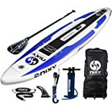 """NIXY Manhattan Paddle Board Touring & Trekking Inflatable SUP 12'6"""" x 30"""" x 6"""" Ultra-Light Stand Up Paddleboard built with Dual Layer Dropstitch Includes Paddle, Leash, Pump, Shoulder Strap, Carry Bag"""