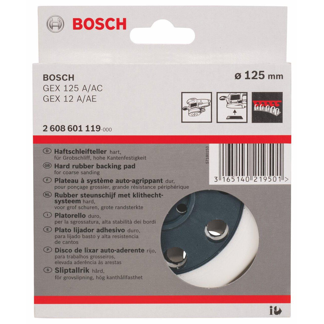 Plato de lija extraweich 125 mm pack de 1 Bosch 2 608 601 117