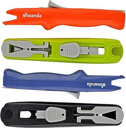 Clip Dispenser Fast Clam Clip Stapler Fermaglio Cucitrice Eric Nero Spara-Mollette per lufficio e gli studenti Paper Clipper Viwanda Includere pacchetto dotato di 100 mollete taglia 6.4 mm