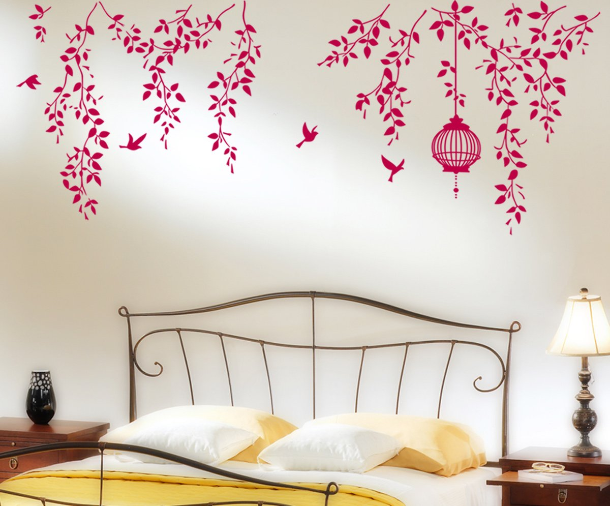 Buy decals design hanging vines with cage and birds wall sticker buy decals design hanging vines with cage and birds wall sticker pvc vinyl 70 cm x 50 cm online at low prices in india amazon amipublicfo Image collections