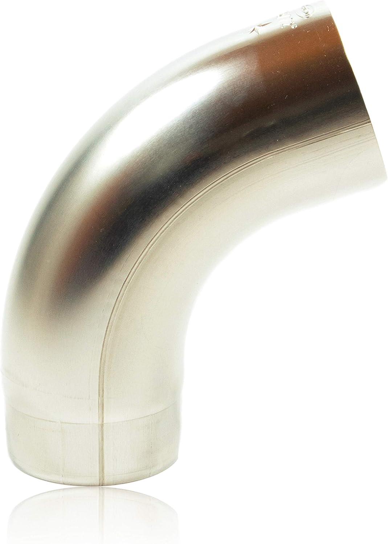 Fallrohrbogen stumpfgeschwei/ßt DN 80 konischer Titanzink Ablaufbogen mit Einsteckfase Zink Regenrohrbogen 80 mm mit 72 Grad