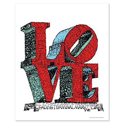 Love Word Art Poster Handwritten With Things That Philadelphians Love Quot