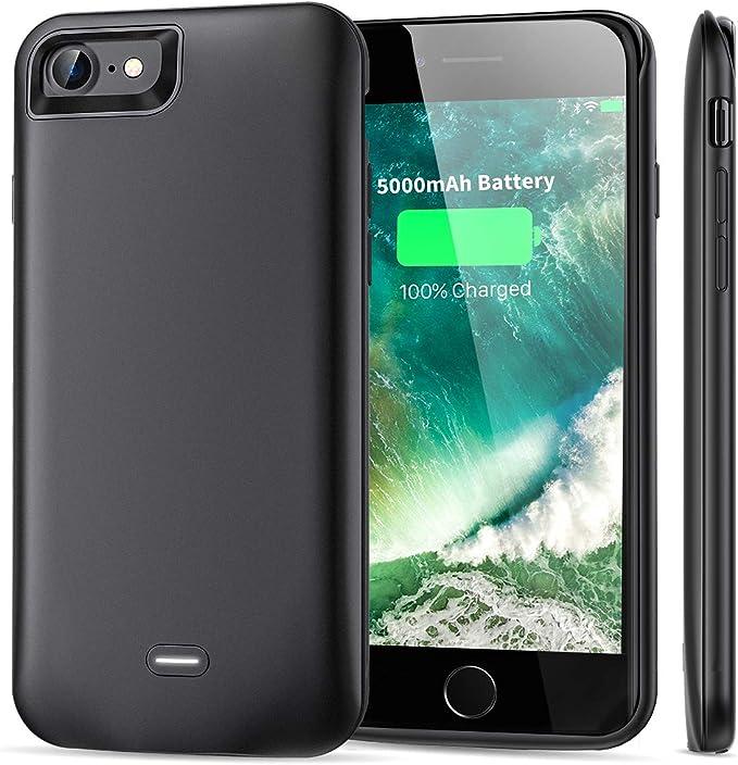 Funda de batería para iPhone 7 y 8 (5000 mAh): Amazon.es: Electrónica