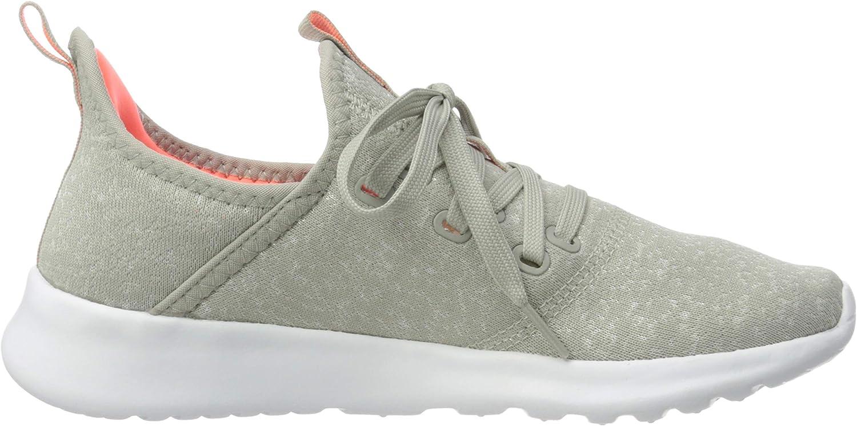 adidas Cloudfoam Pure, Scarpe da Corsa Donna Metal Grey Chalk White Signal Coral