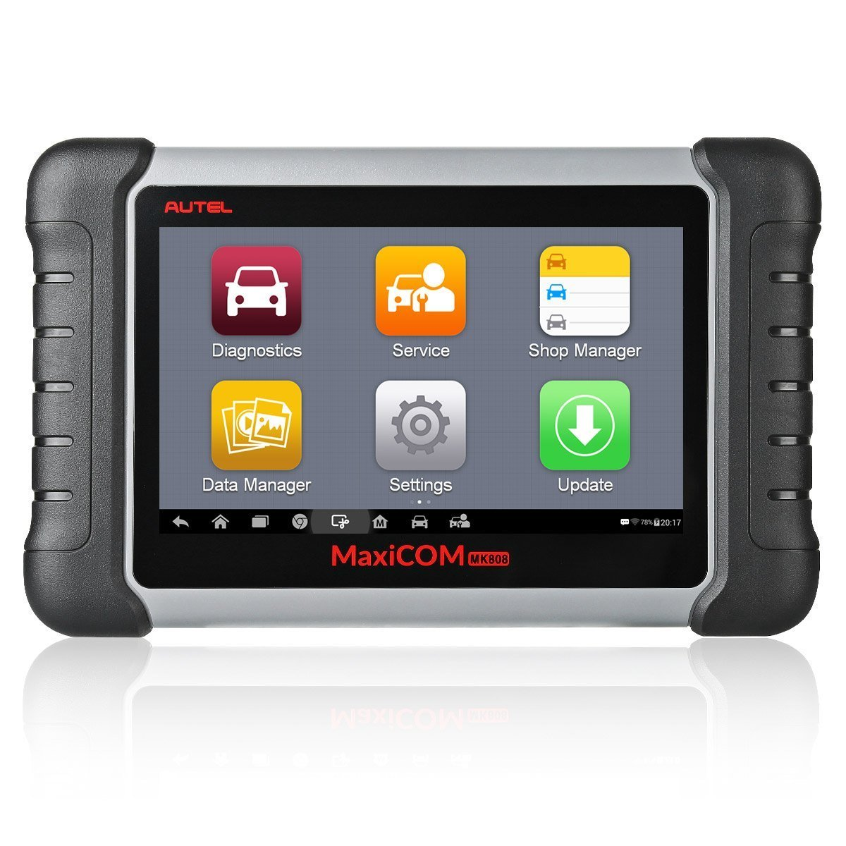 Autel MaxiCOM MK808 OBD2 Scanner Diagnostic Scan Tool with All System Diagnosis and Service Functions Including Oil Reset, EPB, BMS, SAS, DPF, TPMS Relearn (MD802+MaxiCheck Pro)