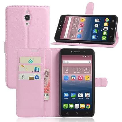Nadakin Alcatel One Touch Pixi 4 6.0inch 3G Calidad Premium Cartera de Cuero con Carcasa de Teléfono Flip Funda con Soporte Magnetico de Cierre para ...