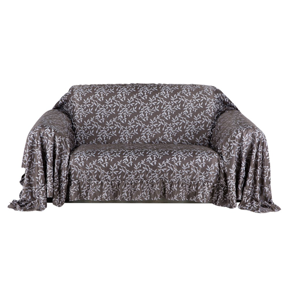 Valea Home Furniture Throw Covers Shield Protector Fitted 2 & 3 Cushion Couch.(70'' W x 140'' L, Chocolate)