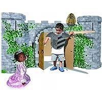 """small foot 9970 Ritterburg """"Avalon"""" aus stabilem Karton, detailreich bedruckt, großes Spielhaus, ab 3 Jahren"""