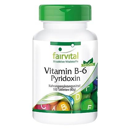 La vitamina B6 piridoxina 100mg - A GRANEL durante 100 días - vegano - ALTA DOSIS