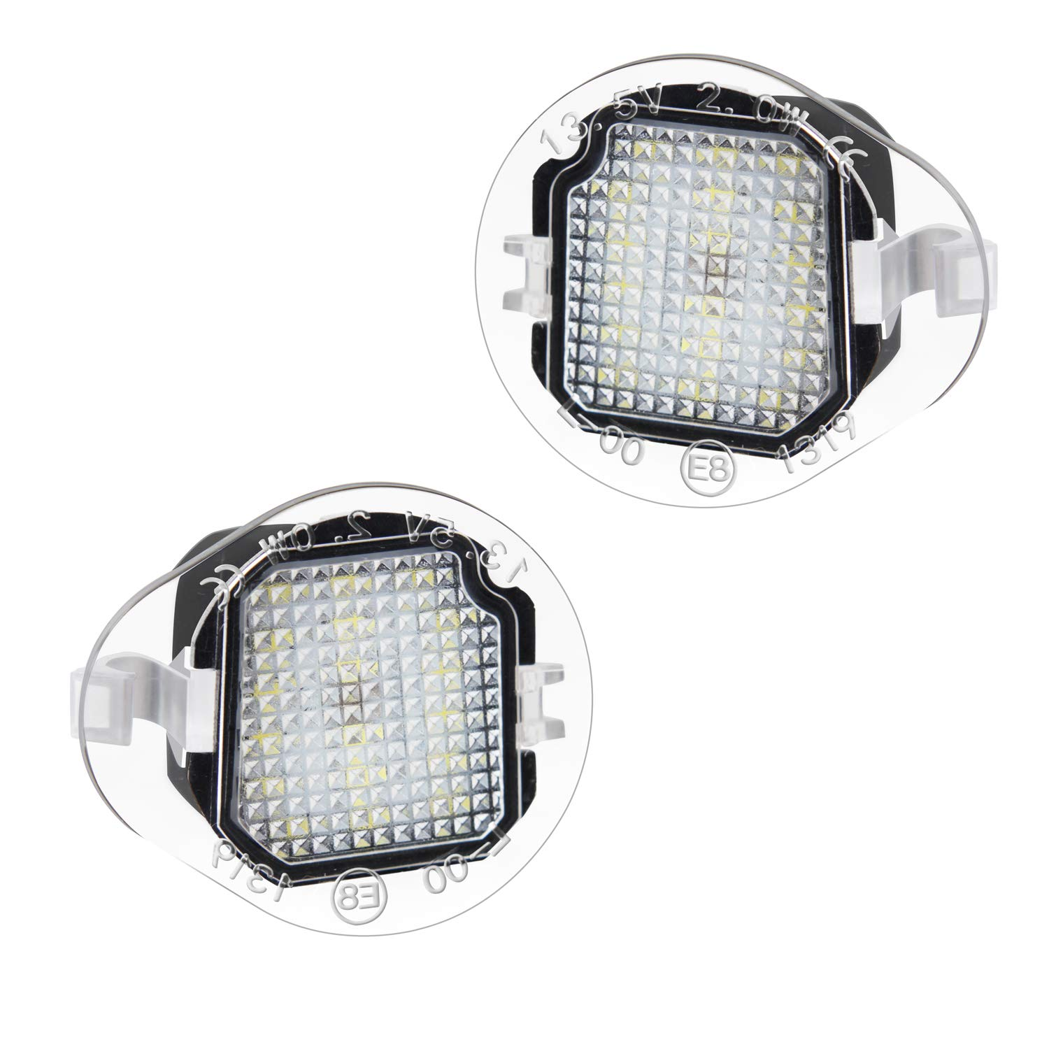 RUXIFEY LED Side Mirror Puddle Light Right Left Lamp Assembly Compatible with Jeep Cherokee 2014 to 2019 White