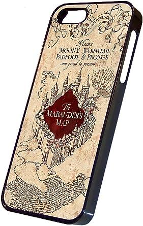 Carte du Maraudeur Harry Potter Coque Rigide pour iPhone 5 Noir ...