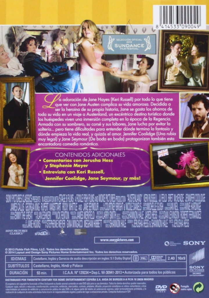 En Tierra De Jane Austen [DVD]: Amazon.es: Keri Russell, Jj Feild, Jennifer Coolidge, Jerusha Hess: Cine y Series TV