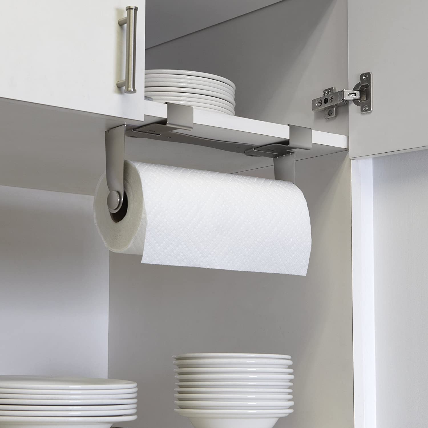 Charmant Amazon.com: Umbra Mountie Cabinet Mount Paper Towel Holder U2013 Modern,  Versatile Nickel Plated Kitchen Paper Towel   Offers Three Easy Mounting  Options ...