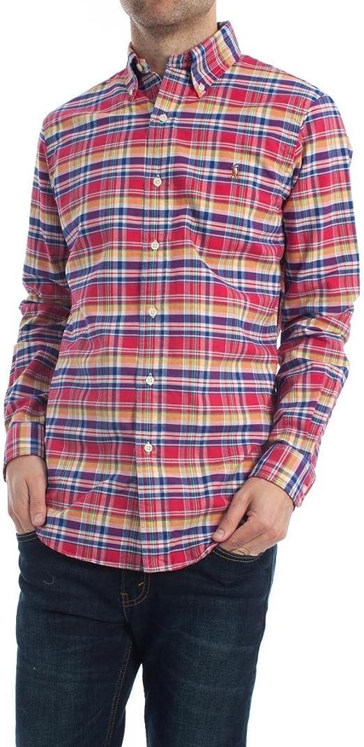 Camisa Polo Ralph Lauren Cuadros Rosa XL Rosa: Amazon.es: Ropa y ...