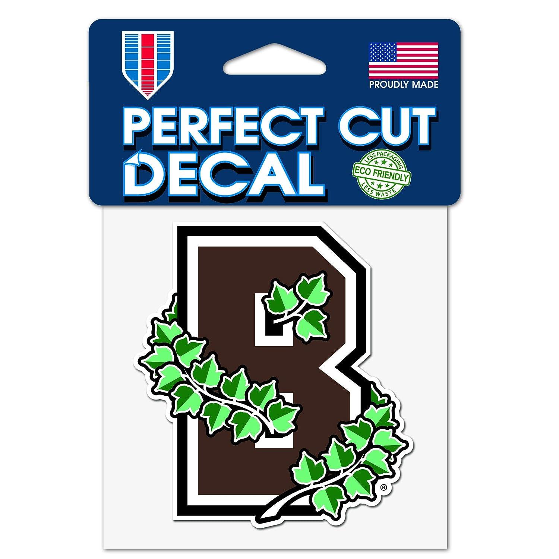 WinCraftt Brown University B Bears 4x4 Inch Perfect Cut Decal