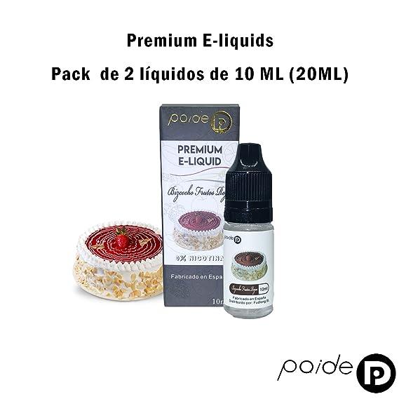 2 x 10ML Paide Premium E-Liquid - Sin nicotina - Líquido para cigarrillo electrónico - 50VG 50PG (Bizcocho frutos rojos): Amazon.es: Salud y cuidado ...