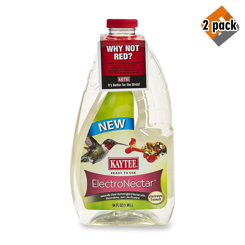 Kaytee 100506148 Electro Nectar Ready to Use Hummingbird Food, 64 oz. (2 Pack(64oz))