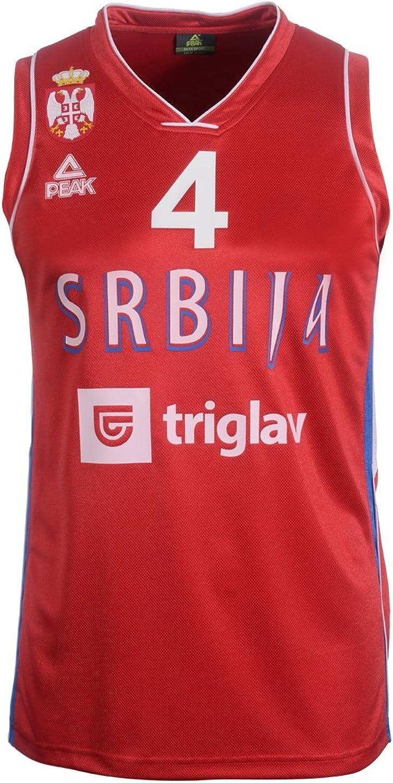 Peak Sport Europe Hombre Milos Teodosic Camiseta, Rojo, S, KSS1501 ...