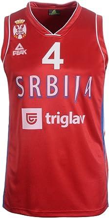 Peak Sport Europe Hombre Milos Teodosic Camiseta, Rojo, S ...